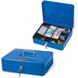 Ящик для ценностей Brauberg 90х240х300 мм, ключевой замок, синий 290336