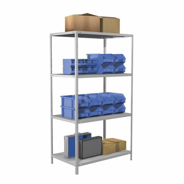 стеллаж металлический brabix ms plus-185/60-4, 1850х1000х600 мм, 4 полки, регулируемые опоры, 2911