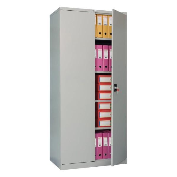 шкаф металлический офисный brabix mk 18/91/46,1830х915х460 мм, 47 кг, 4 полки, разборный,291136