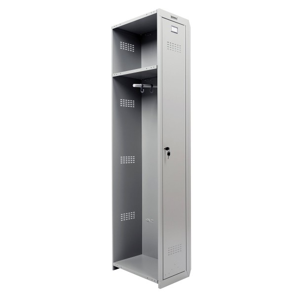 шкаф (секция без стенки) металлический для одежды brabix lk 01-30, усиленный,1830х300х500 мм 291128