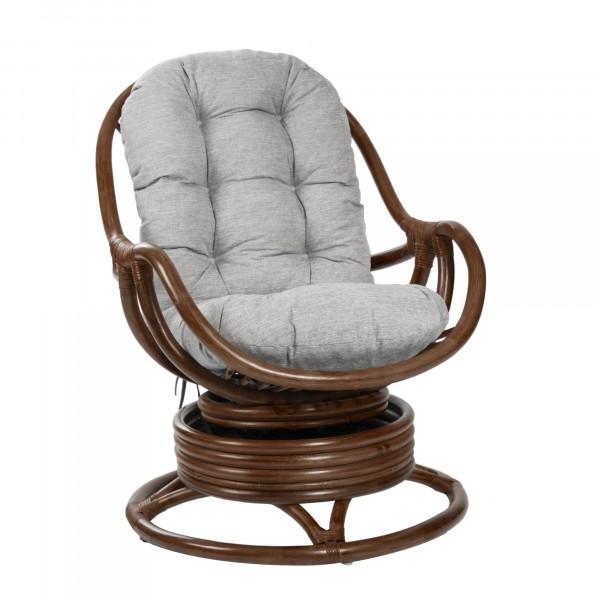 Кресло качалка Leset Rattan Design 90х67см коньяк,