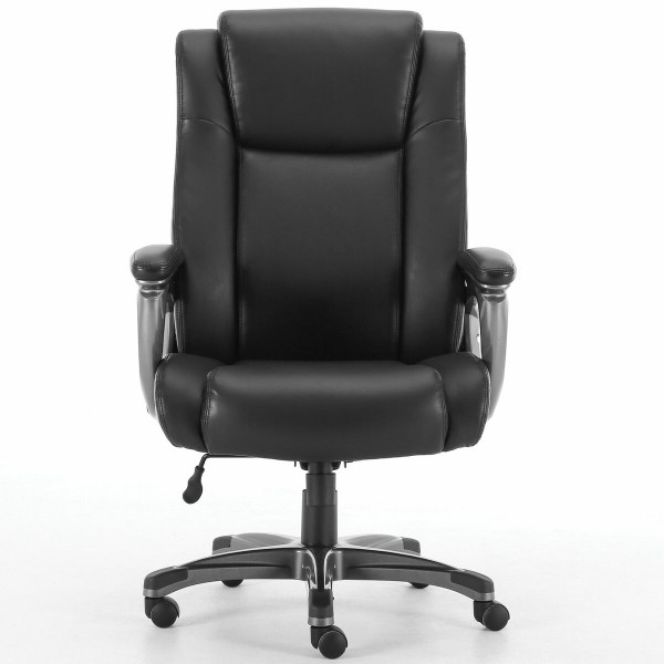 кресло офисное brabix premium solid hd-005, нагрузка до 180 кг, рециклированная кожа, черное, 531941