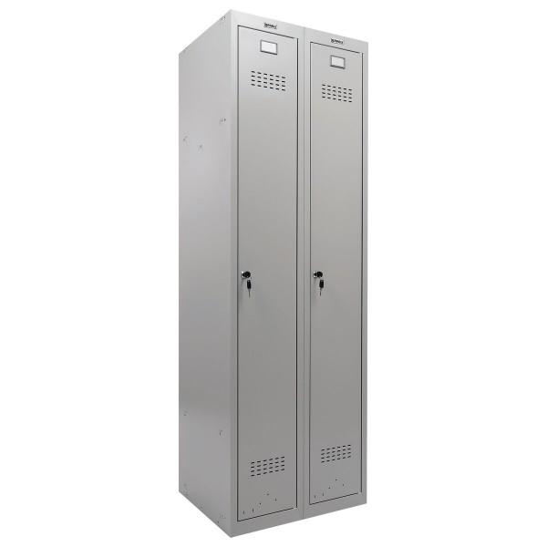 шкаф металлический для одежды brabix lk 21-80, усиленный, 2 секции,1830х800х500 мм, 37 кг,291129
