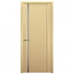 Полотно дверное Веста 01 ДО 600 эко шпон, светлый бел.дуб, молочная пленка ст. глянец
