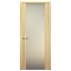 Полотно дверное Веста 03 ДО 600 эко шпон, светлый бел. дуб, молочная пленка ст. глянец
