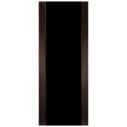 Полотно дверное Веста 03 ДО 600 эко шпон, венге, глянец черное стекло