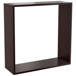 Полка навесная пазл-квадрат (0,492*0,492*0,216) венге темный