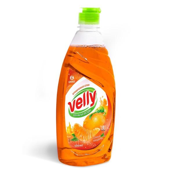 средство для мытья посуды 500мл сочный мандарин grass 125431