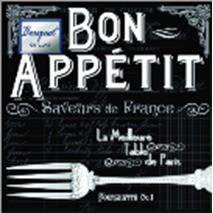 "Салфетки 24х24см ""Bon appetit"" Bouquet de luxe 3-слойные 37437"