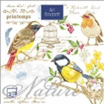 """Салфетки 33х33см """"Птицы"""" Art Bouquet 3-слойные 37427"""
