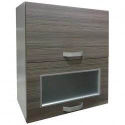 Шкаф настенный 600мм с 2-мя подъемными дверями (1дв. рамка + стекло)/ матрикс (с-5762)