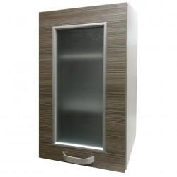 Шкаф настенный 400мм 1-но дверный (стекло + рамка)/ матрикс (с-5725)