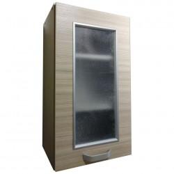 Шкаф настенный 400мм 1-но дверный (стекло + рамка)/матрикс-189/1 (с-5725)