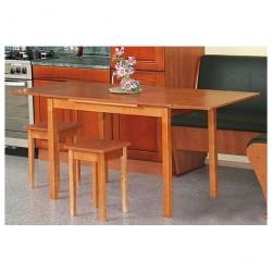 Стол обеденный ЛДСП раскладной прямая нога вишня (60*90(120)