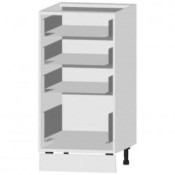 Шкаф-стол рабочий с 4 ящиками C400 Я4 белый