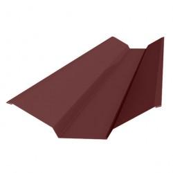 Планка ендовы верхней 130*30*130 0,5 PE-foil RAL 3005