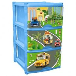 Комод для детской комнаты City Cars Tutti 4 ящика