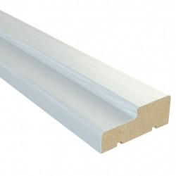 Коробочный брус плоский,3D Финиш-пленка 2070х70х26мм,Белый