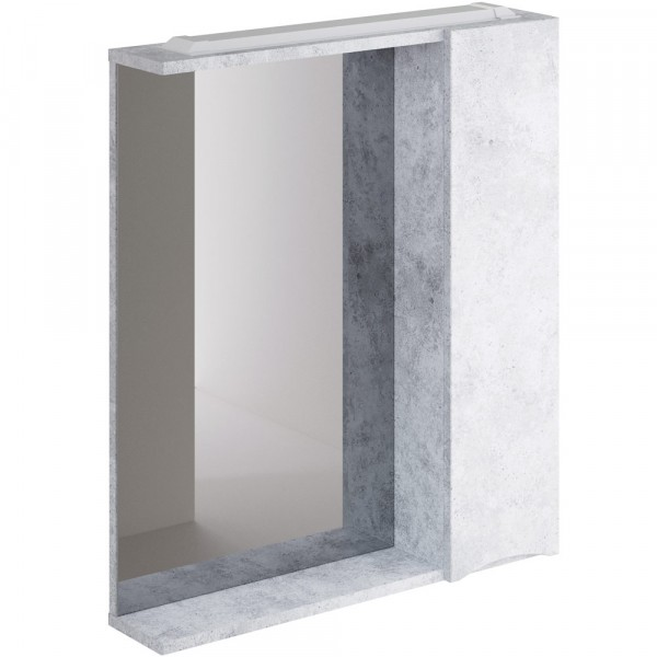 шкаф-зеркало итана мишель правый 65 (бетон голубой)