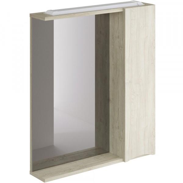 Фото - шкаф-зеркало итана мишель правый 65 (лиственница приморская) шкаф навесной для прачечной распашной итана 600х388х400 белый