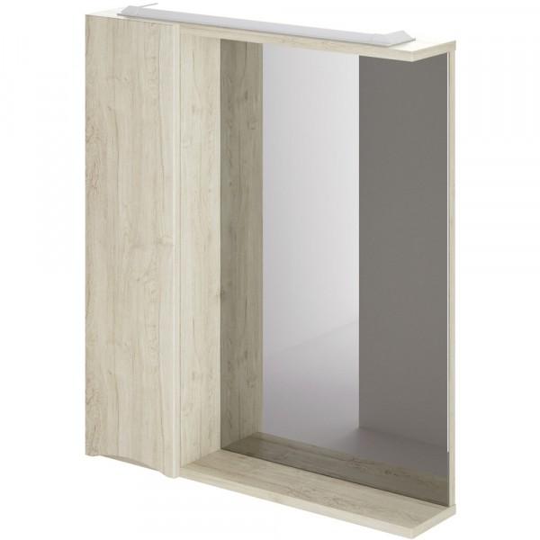 Фото - шкаф-зеркало итана мишель левый 65 (лиственница приморская) шкаф навесной для прачечной распашной итана 600х388х400 белый