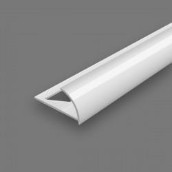 Угол наружный для плитки Идеал 10мм х 2,5м Белый 001