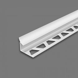Угол внутренний для плитки Идеал 10мм х 2,5м Белый 001