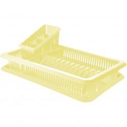 Сушилка для посуды и столовых приборов 1-ярусная Лилия Nice&price с поддоном ваниль NP1562ВН-7