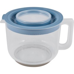 Емкость мерная для миксера 2л Plast team с крышкой пластик туманно-голубой PT1360ТГ-9