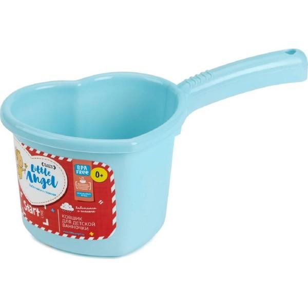 детские ванночки ковшик для детской ванночки 1.5л start little angel пластик голубой пастельный la1022bl