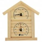 Термогигрометр для бани и сауны Банная станция ДОМИК 23,6*22*1,9см 18023