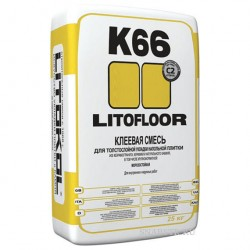 Клей плиточный LitoFloor K66 25кг для керамогранита