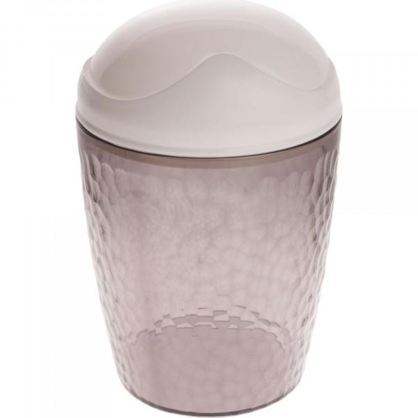 контейнер для мусора настольный 1л natural stone branq пластик черный прозрачный bq1202чрпр