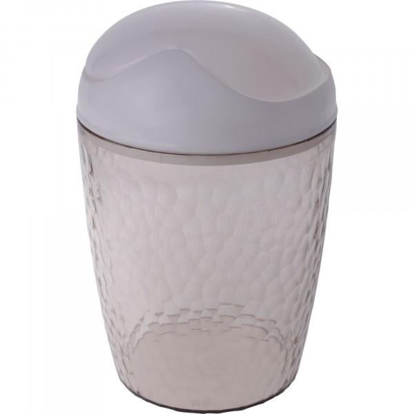 контейнер для мусора настольный 1л natural stone branq пластик бежевый прозрачный bq1202бжпр