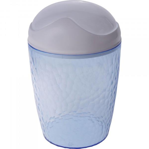 контейнер для мусора настольный 1л natural stone branq пластик голубой прозрачный bq1202глпр