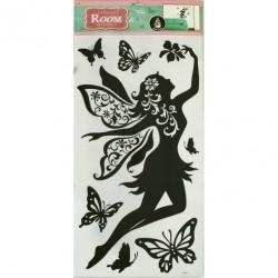 Стикер 5624 Летящая фея с кристаллами RDA5624