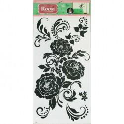 Стикер 5626 Черная роза /графика/ RDA5626