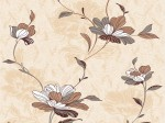 Обои С11-207П Алёнушка-02 0,53*10,05м акрил, цветы, бежевый