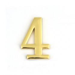 Цифра дверная самоклеящаяся золото 2d 1-004 (четверка)