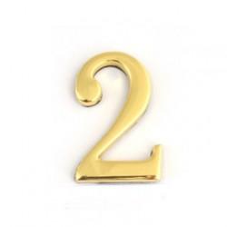Цифра дверная самоклеящаяся золото 2d 1-002 (двойка)