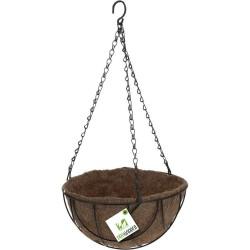 Кашпо подвесное 25см металл, кокосовое волокно 437100110