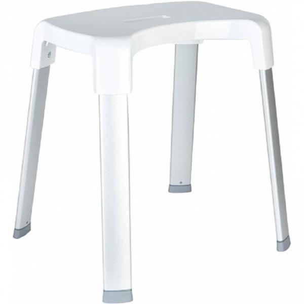 стул для ванной комнаты smart 4 primanova алюминий и пластик, белый m-blp70095