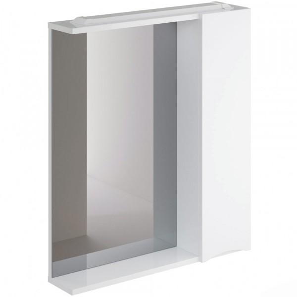 Фото - шкаф-зеркало итана мишель правый 65 (глянцевый белый) шкаф навесной для прачечной распашной итана 600х388х400 белый