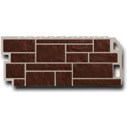 Панель фасадная FineBer 1,137*0,47 Камень коричневый
