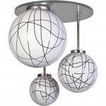 Светильник потолочный Стефания-3 алюминий тисн. 082 Е14 40Вт Е27 2*60Вт