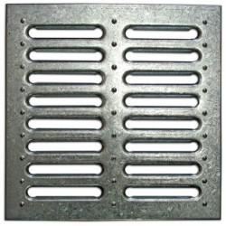 Решетка к дождеприемнику стальная штампованная оцинкованная, 285*285*22мм, кл. А15