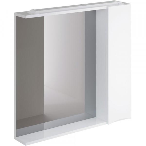 Фото - шкаф-зеркало итана мишель 80 правый (глянцевый белый) шкаф навесной для прачечной распашной итана 600х388х400 белый