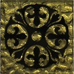 Вставка Бутон Рифленая Золото 6,6*6,6 Золотой