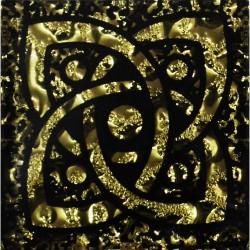 Вставка Галактика Рифленая Золото 6,6*6,6 Золотой