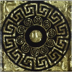 Вставка Греция Золото 6,6*6,6 Золотой